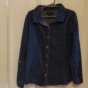 Girls Limited Too Button Down Shirt Size 8